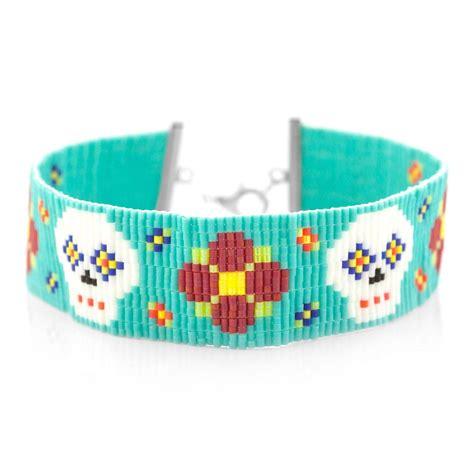 bead loom designs sugar skull bead loom pattern allfreejewelrymaking