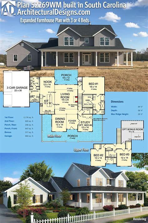 plan wm expanded farmhouse plan     beds farmhouse plans   plan farmhouse