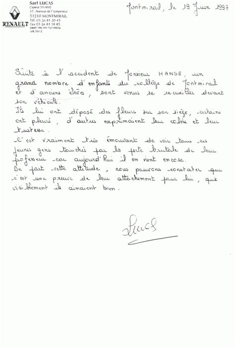 lettre depart collegue