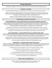 technical writing experience resume technical writer resume