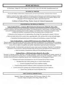 technical writer resume