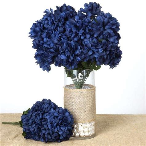 Navy Blue Flower Vases by 56 Chrysanthemum Balls Navy Blue Silk Flowers Factory