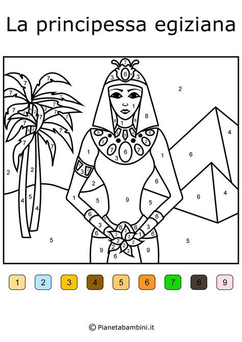 ispirazione disegni egizi facili da colorare