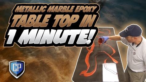 Metallic Marble Epoxy Table Top in 1 Minute   YouTube