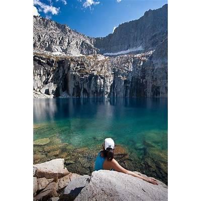 Precipice Lake lies deep in the interior of Sequoia