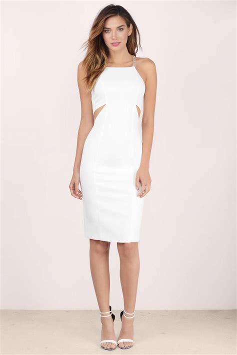 sexy white midi dress white dress cut  dress midi