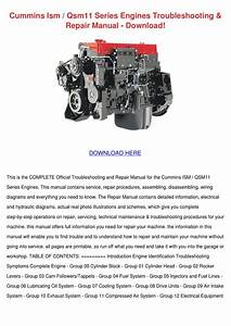 Cummins Ism Qsm11 Series Engines Troubleshoot By