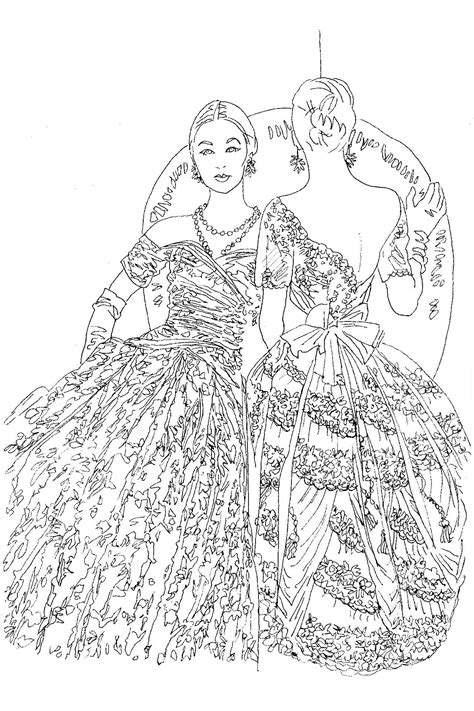 introducing  vogue colouring book fashion sketch