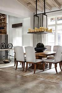 Rustic texas home with modern design and luxury accents for Rustic modern dining room ideas