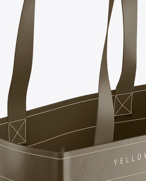 This shopping bag mockup to showcase your branding design in a photorealistic look. Download Glossy Shopping Bag With Rope Handle Mockup ...