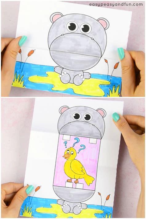 surprise big mouth hippo printable easy peasy  fun