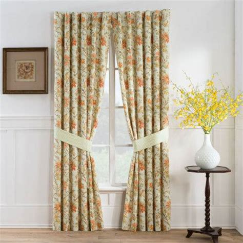 persimmon lined panels ellery waverly valance