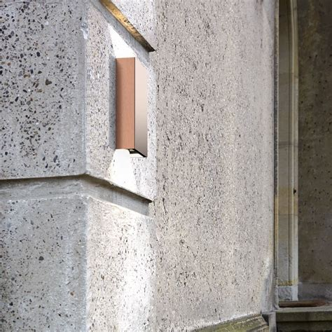 dftp nordlux fold outdoor led wall light copper