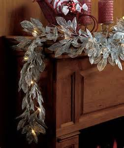 lighted led metallic silver quot or quot gold christmas garland