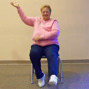 chair aerobics seniors fitness youthful hearts