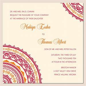 Wonderful weddings the invitation cards for different for Create hindu wedding invitations free