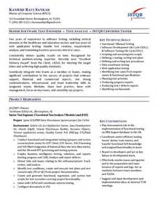 test analyst resume template the australian employment guide