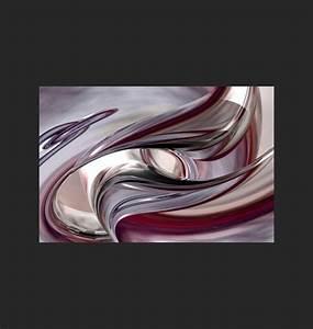 Tableau Design Contemporain - Abstrait Violet - Home-Photo