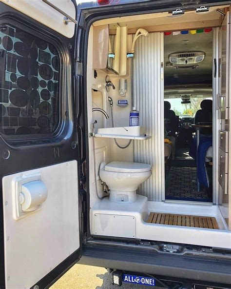 That is why such alternative names of these transport units as motorhomes and mobile homes are widely used. Van Life Showering | Campervan interior, Van life diy, Camper van conversion diy