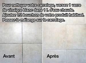 Comment Nettoyer Des Joints De Carrelage Noircis : carrelage encrass dans la salle de bains utilisez le vinaigre blanc ~ Melissatoandfro.com Idées de Décoration