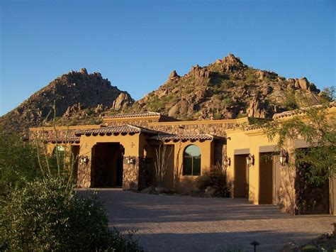 adobe house plans with courtyard pictures for desert mountain estate info in