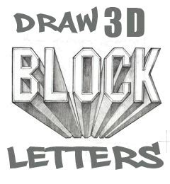 how to draw block letters draw 3d block letters 4731