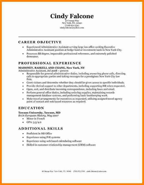 application letter exle for administrative assistant