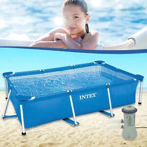 pool mit pumpe intex 300x200x75 cm swimming pool mit pumpe schwimmbecken frame stahlwandbecken ebay