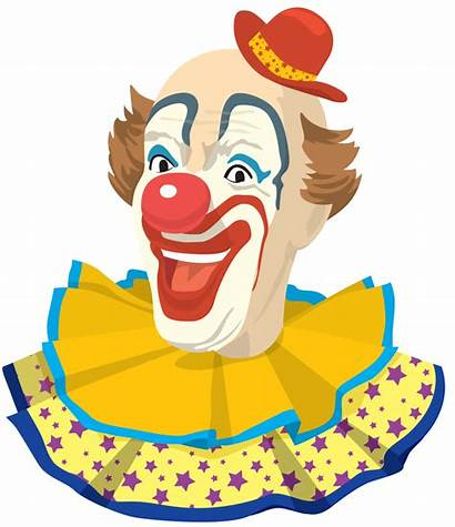Clown Clowns Face Happy Clipart Drawing Gourds
