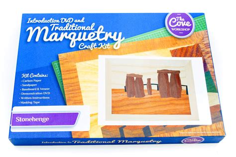stonehenge traditional marquetry craft kit   dvd