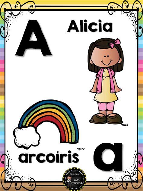 educaci n preescolar abecedario con im genes a color abecedario nombres propios 2 imagenes