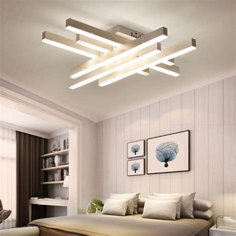 Led Light Room Size by Creative Rectangular Bedroom Warm Living Room Simple