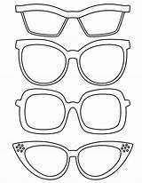 Coloring Sunglasses Template Pages Sketch sketch template