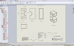 drawn speakers solidworks pencil and in color drawn With solidworks drawing template tutorial