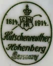 Hutschenreuther Germany 1814 by Porcelain And Pottery Marks