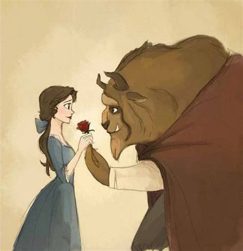 Beauty The Beast Drawing Love Rose First Set