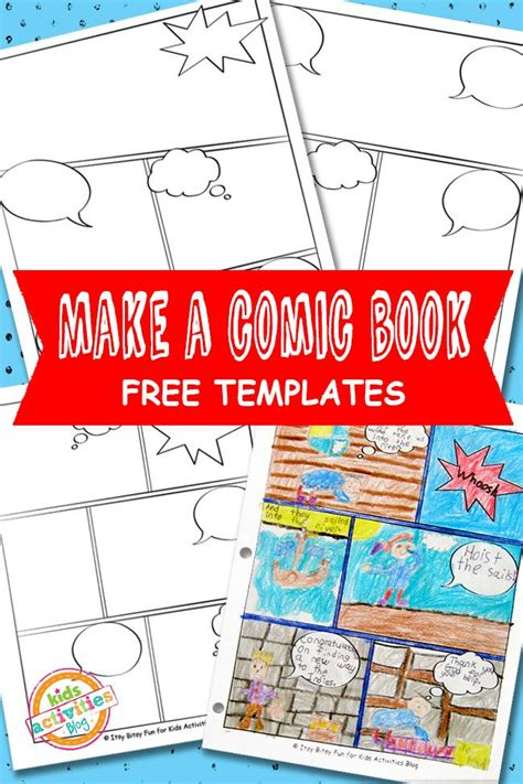 Comic Book Template Comic Book Templates Free Printable Activities
