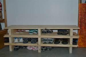 Banc Range Chaussures : meuble en palette de recuperation 3 etag232re banc 224 chaussures les loisirs dangegaby cgrio ~ Teatrodelosmanantiales.com Idées de Décoration