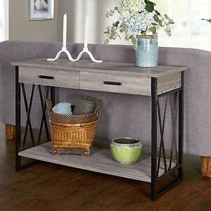 Foyer Tables With Storage by Rustic Console Table Gray Sofa Storage Tables Entry