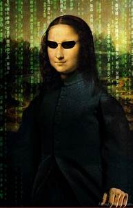 Funny Mona Lisa Pictures » Mona Lisa Matrix Glasses