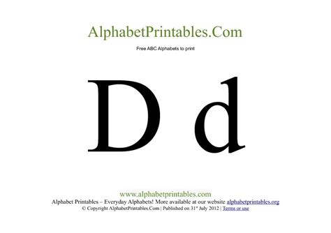 Uppercase Lowercase Alphabets To Print