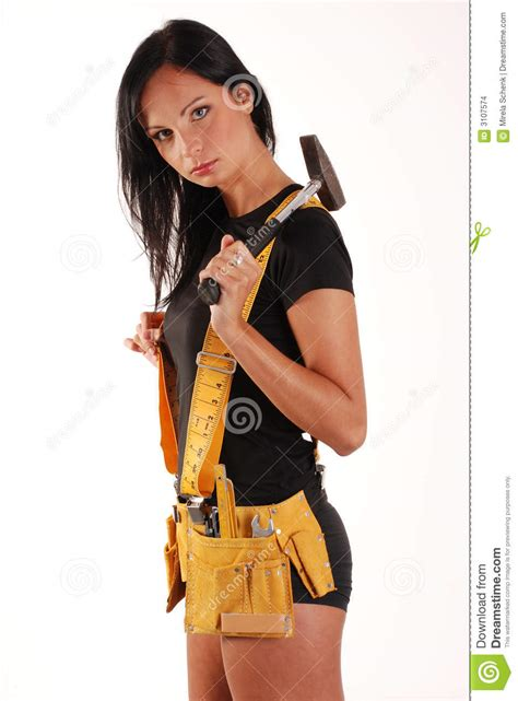 builder girl stock images image