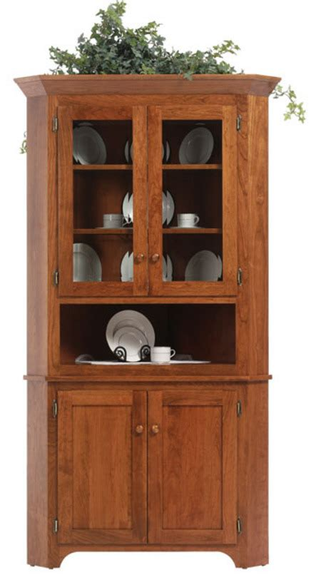 boston shaker corner hutch amish outlet store