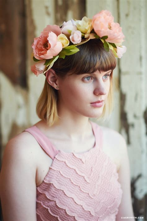pretty crepe paper flower crown lia griffith