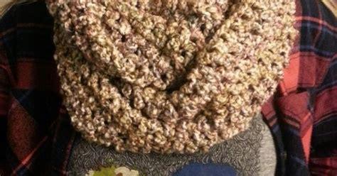 Chunky Infinity Scarf . Lions Brand Homespun Yarn Color