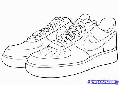 Coloring Jordan Shoe Pages Jordans Air Draw