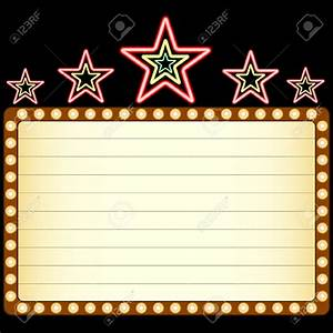 Marquee cliparts for Theatre sign clipart