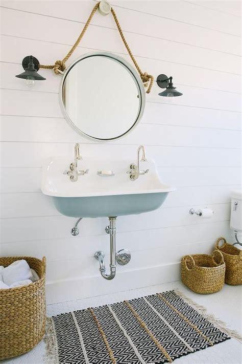 Kohler Brockway Sink by Bathroom Shiplap Walls Design Decor Photos