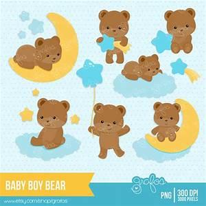 Baby Boy Teddy Bear Clip Art