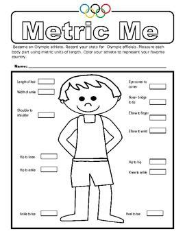 here s a measurement activity where students measure their body parts in metric units of course